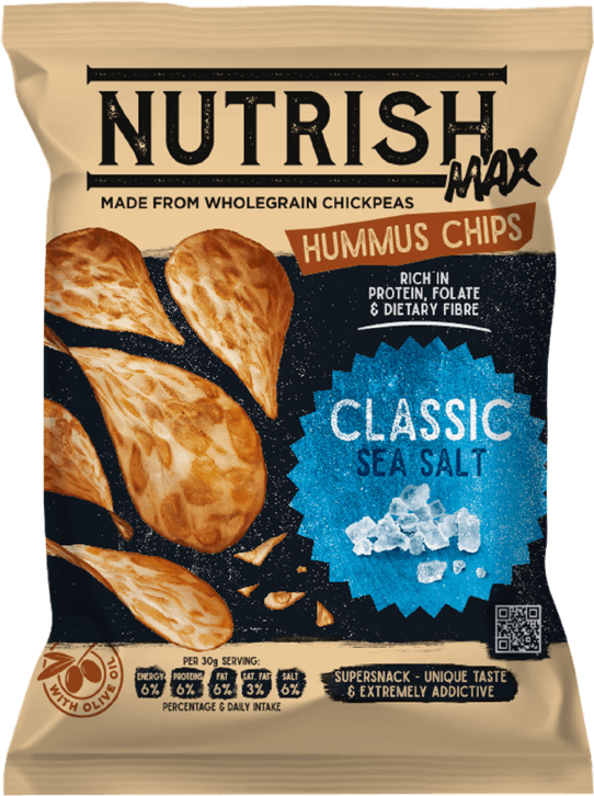 Nutrish Max Hummus chips - Classic - front