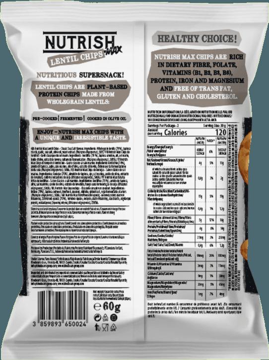 Nutrish Max Lentil chips - Classic - back