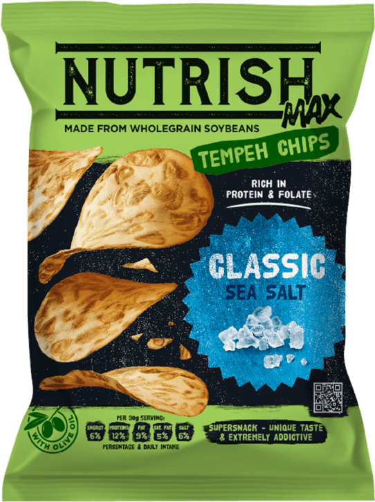 Nutrish Max Tempeh chips - Classic - front