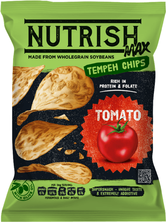 Nutrish Max Tempeh chips - Tomato- front