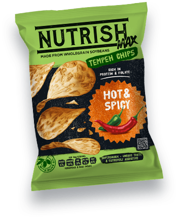 Nutrish Max Temepeh chips - Hot&Spicy